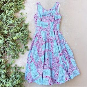Vintage Ruby Designs Handmade Midi Tea Dress